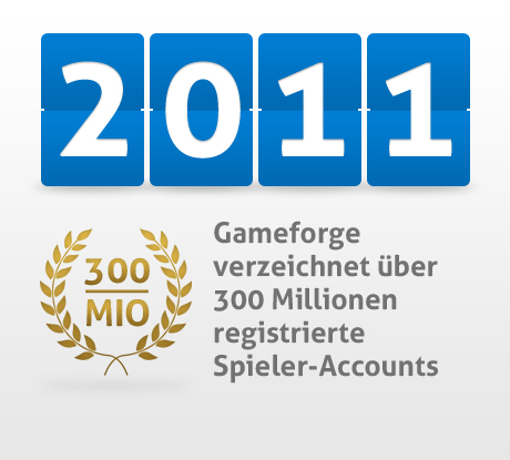 300 Millionen registrierte Gameforge User